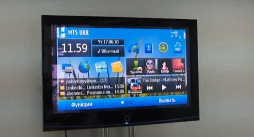 Nokia N8 touch screen TV