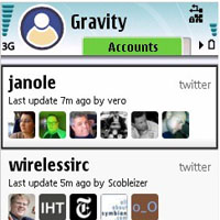 Gravity Twitter and Facebook app for Nokia N8
