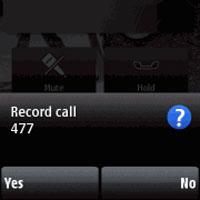 Call recorder for Nokia N8