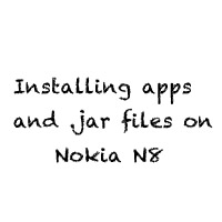 Installing apps and jar files on Nokia N8