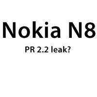 Nokia N8 PR 2.2 leak