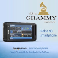 Nokia N8 advertisement at Grammy Awards