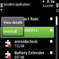 Nokia N8 uninstall themes and apps