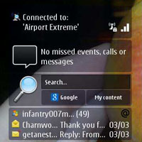 Nokia N8 widget thumb