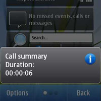 Nokia N8 call timer